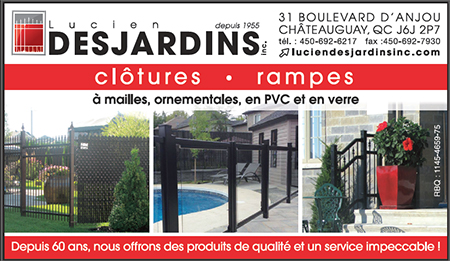 Lucien Desjardins Inc., fences and railings in Châteauguay